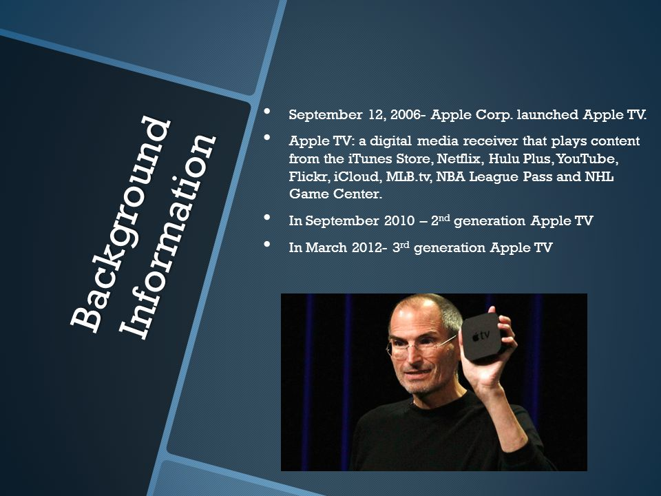 Background Information September 12, Apple Corp.