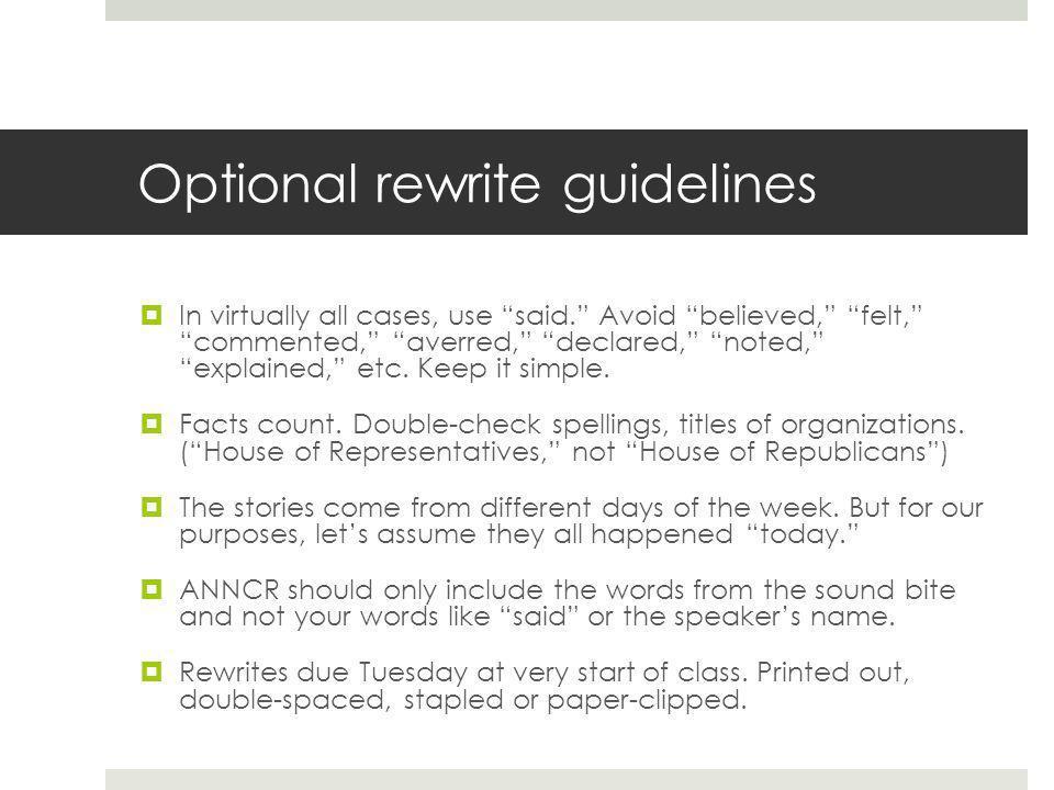 Formatting a TV news script First, open up Word.