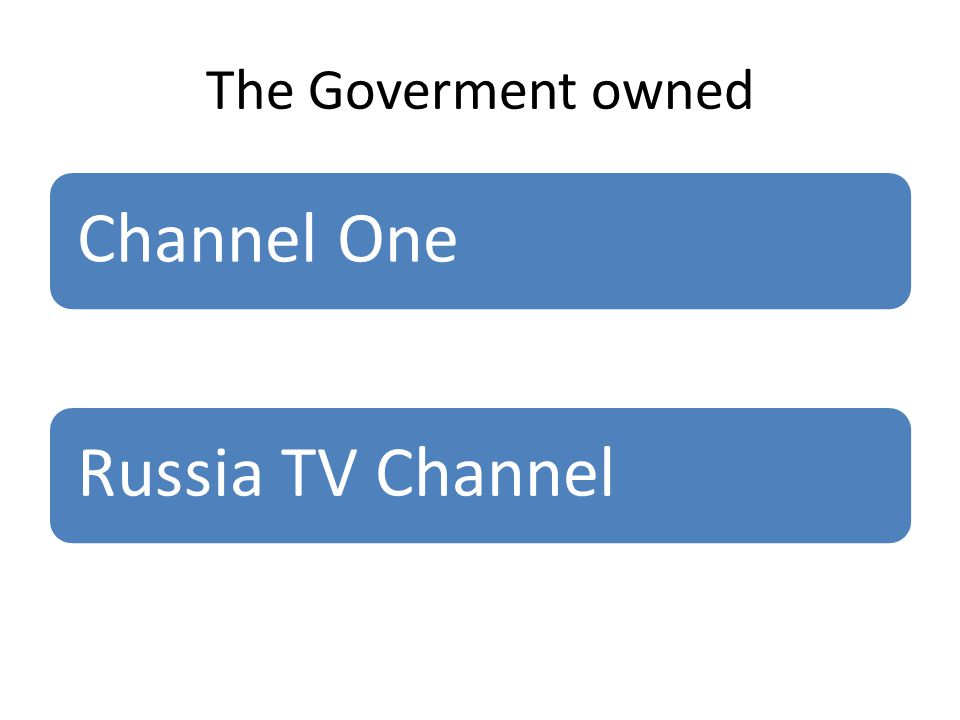 The Goverment owned Channel OneRussia TV Channel