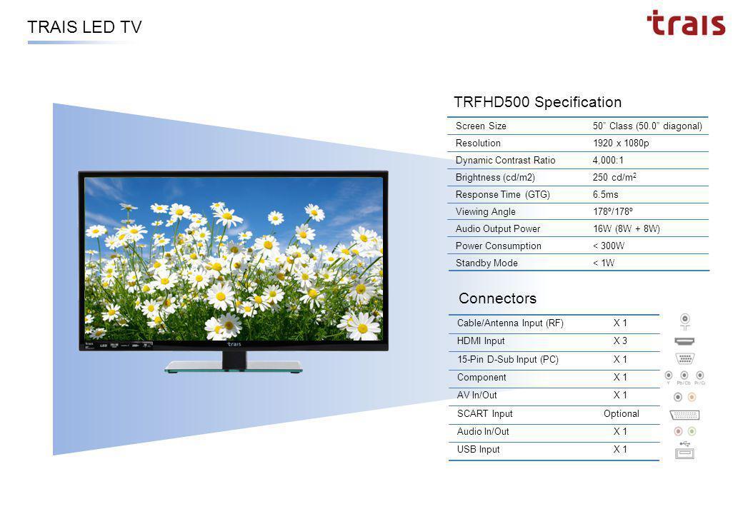 LED TV Series Dimensions TRHD320TRFHD320TRFHD400TRFHD460TRFHD500 H W D 32 40 46 50