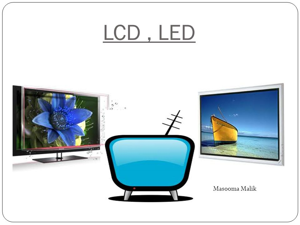 L ED An LED-backlit LCD display is a flat panel display that uses LED backlighting instead of the cold cathode (CCFL) backlighting used in other LCD displays.flat panel displayLEDbacklighting cold cathode While not an LED display, televisions using this display are called LED TV by some manufacturers and suppliers.LED display The use of LED backlighting allows for a thinner panel, lower power consumption, better heat dissipation, a brighter display, and better contrast levels Three forms of LED may be used: White edge-LEDs around the rim of the screen, using a special diffusion panel to spread the light evenly behind the screen (the most usual form) A full array of LEDs arranged behind the screen whose brightness are not controlled individually