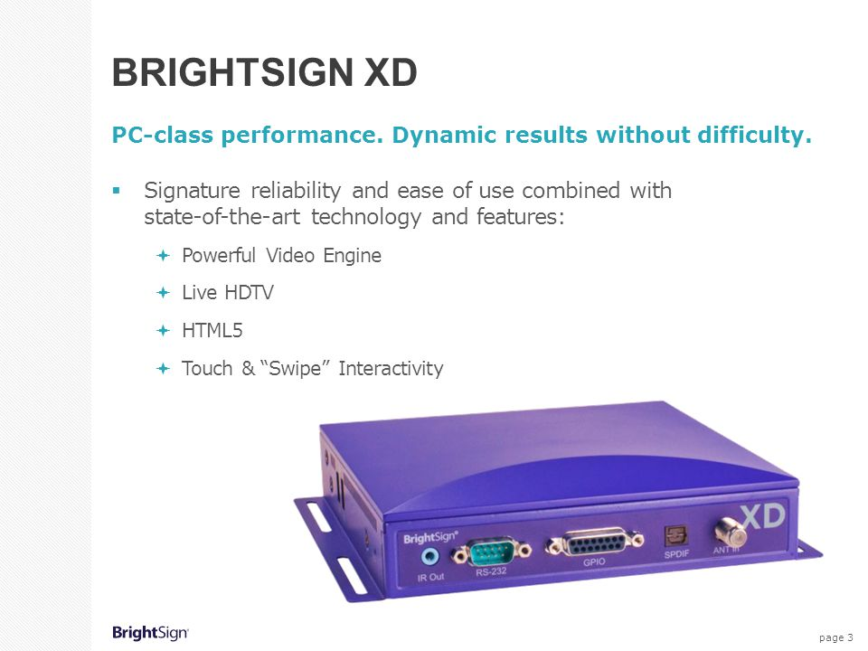page 4 Powerful Video Engine All XD models feature an advanced video decoding engine with superior scaling technology that delivers pristine 1080p60 video and supports 3D content.