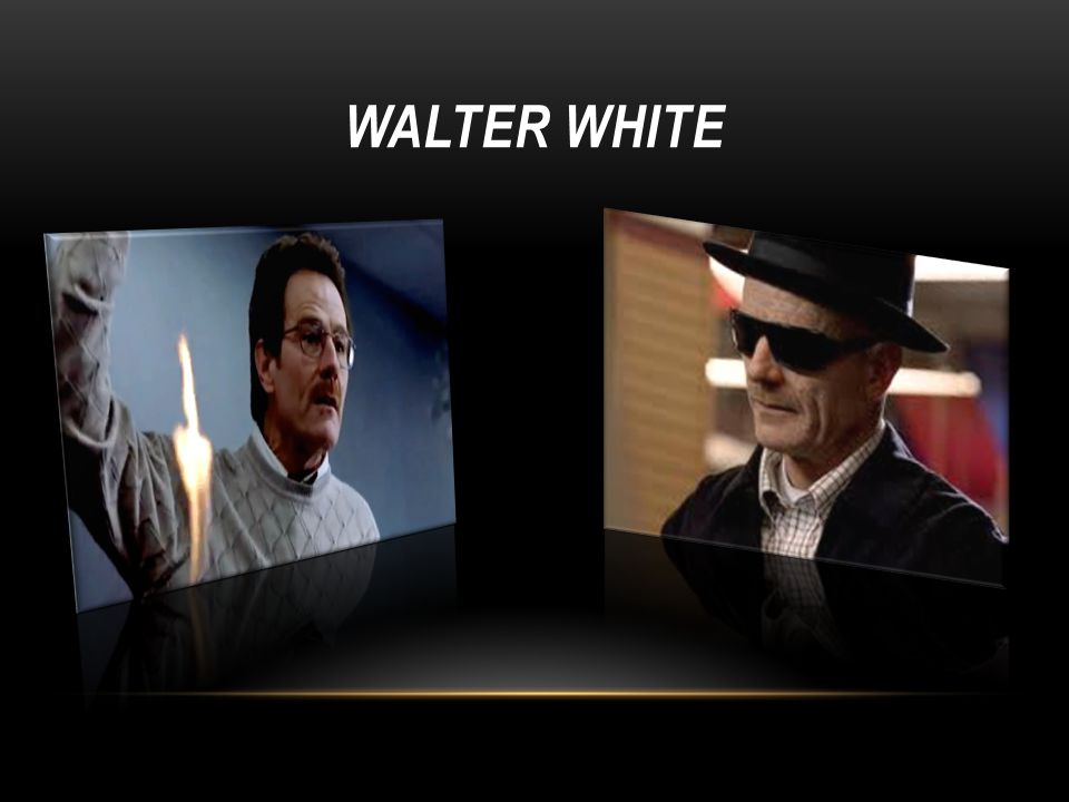 The actor Bryan Cranston, who Walter White is normally dressed as a high school teacher His outfit consists of chino trousers and a button down dress shirt; what is sometimes is commonly taken to be an academic/teacher style.