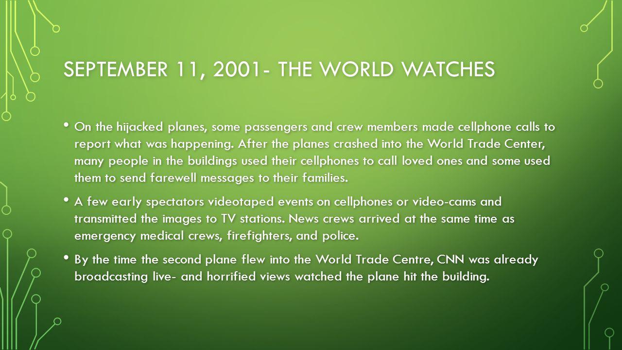 SEPTEMBER 11, 2001 REFLECTIONS