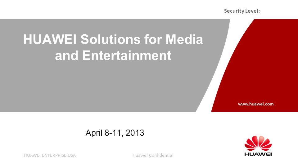 1 Agenda Huawei Company Background Media solutions overview Huawei Partnership Ecosystem Success Story Summary