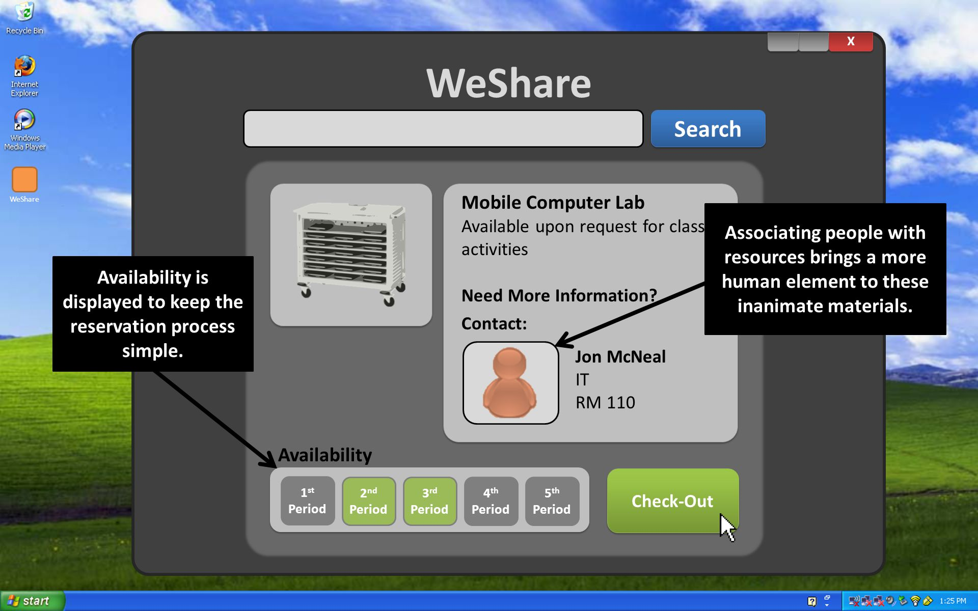 WeShare X X Search WeShare Mobile Computer Lab Available upon request for class activities Need More Information.