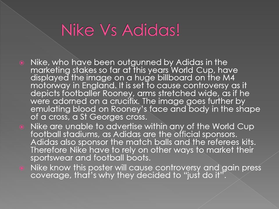 An example of a Nike global advertising campaign: