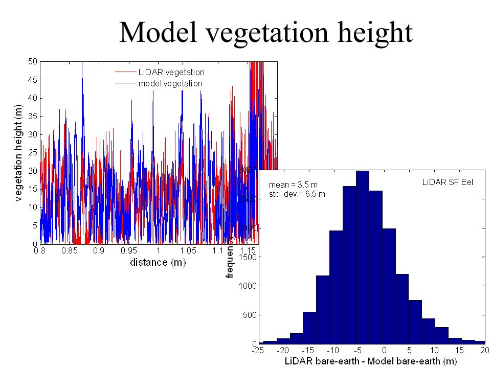 Model vegetation height