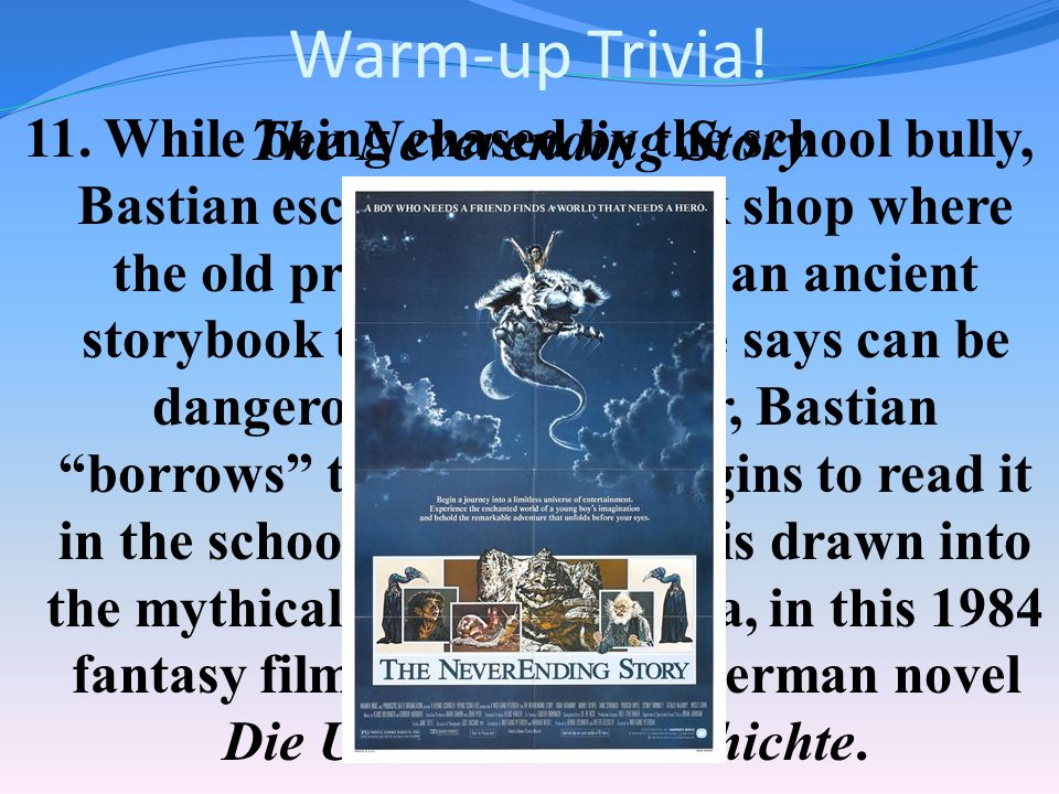 Warm-up Trivia. 10.
