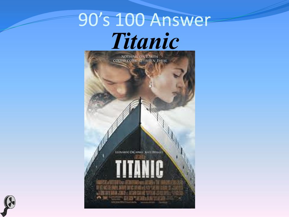 90s 100 This 1997 movie from James Cameron, starring Leonardo DiCaprio and Kate Winslet as passengers on a doomed ship on its maiden voyage certainly didnt sink at the box office.