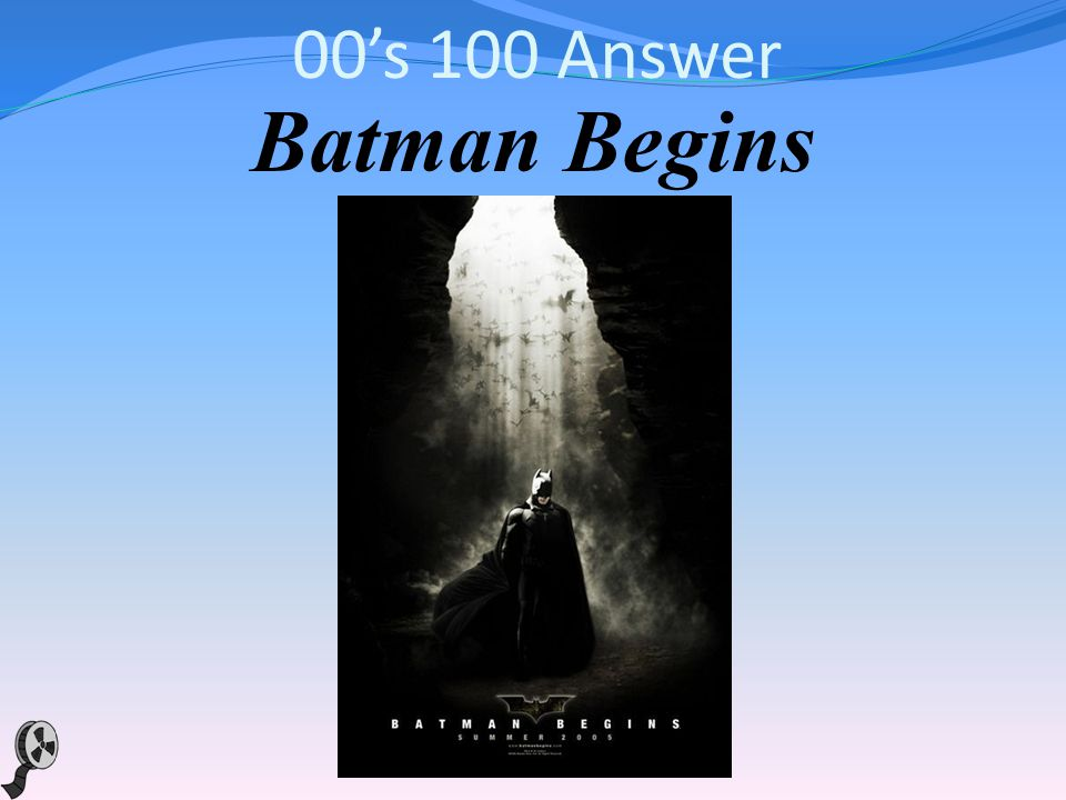 00s 100 This 2005 superhero flick by Christopher Nolan was a reboot of a franchise based on the DC comics starring the Caped Crusader, who uses his strength, intellect and an array of high tech deceptions to fight the sinister forces that threaten his city.