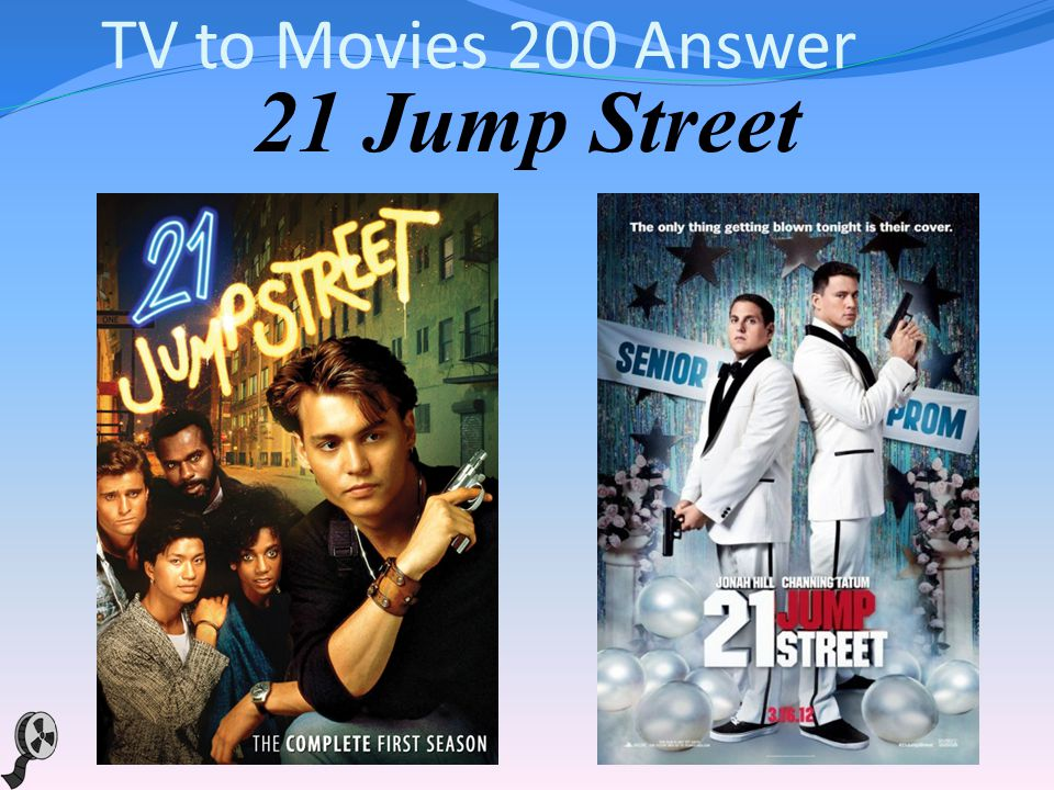 TV to Movies 200 This 2012 action-comedy about 2 police officers that go undercover at a high school in order to bust up a drug ring is based on the 1987 TV show of the same name that starred Johnny Depp.