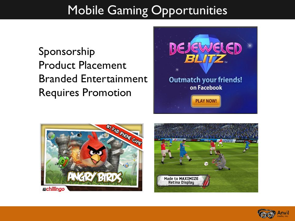 Mobile Gaming Opportunities Sponsorship Product Placement Branded Entertainment Requires Promotion