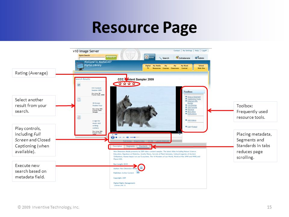 Resource Page © 2009 Inventive Technology, Inc.