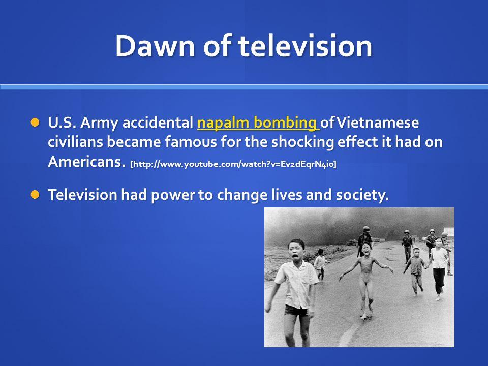 Dawn of television U.S.