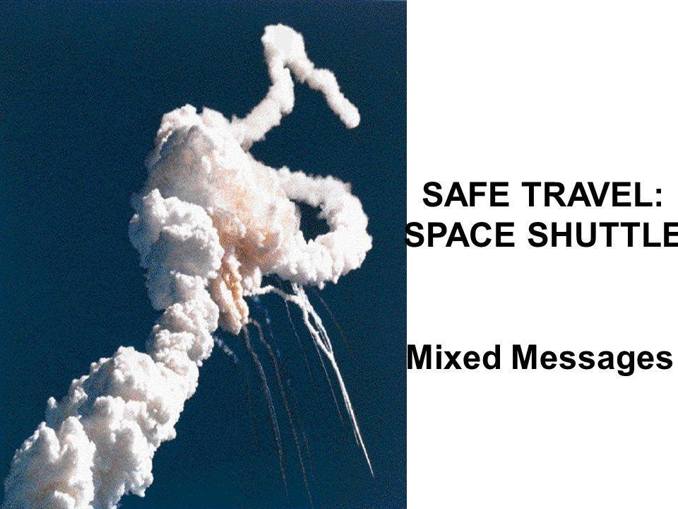 SAFE TRAVEL: SPACE SHUTTLE Mixed Messages