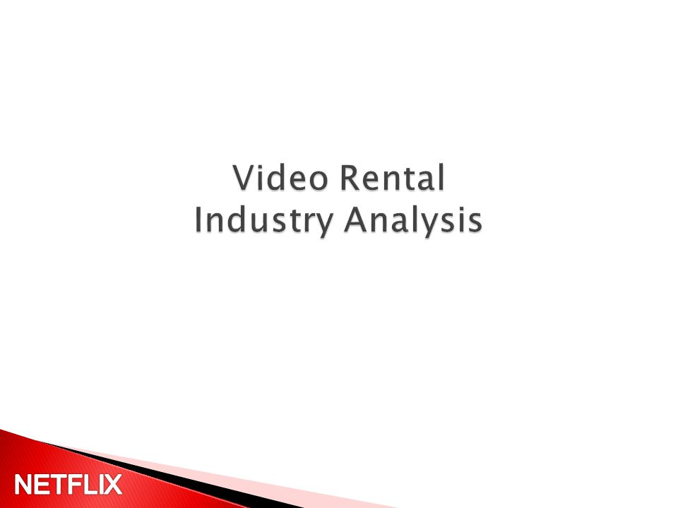 Rental Revenue flat over last two years Competitors continue to shift as new companies innovate and enter the market.