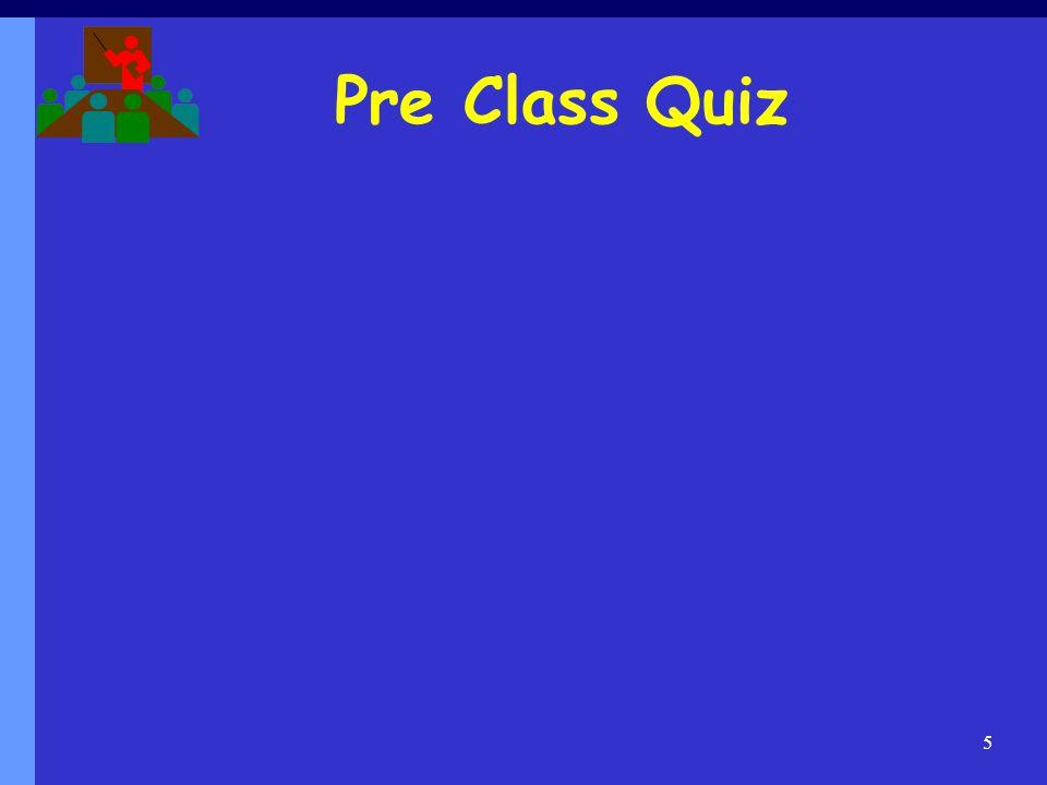 Pre Class Quiz 5