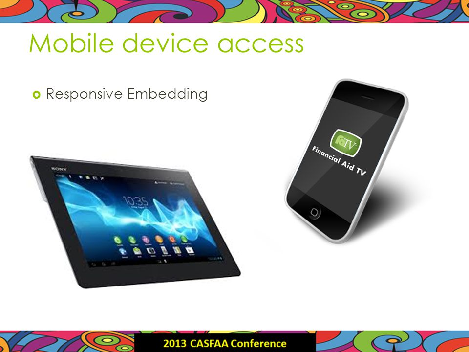 Mobile device access Responsive Embedding