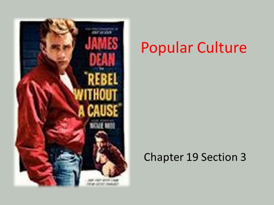 Popular Culture Chapter 19 Section 3