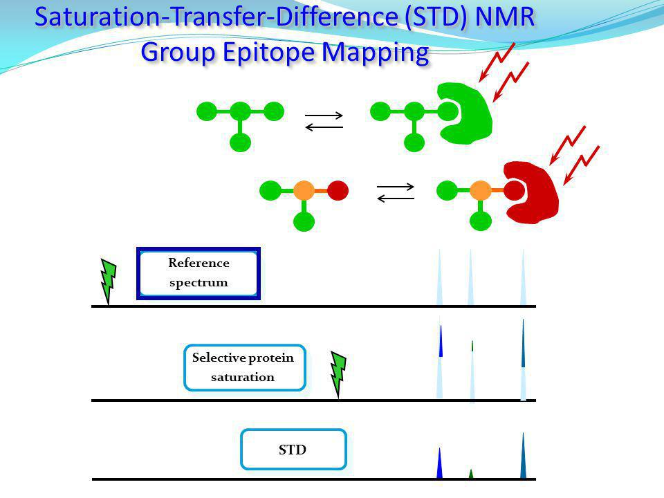 Saturation-Transfer-Difference (STD) NMR Group Epitope Mapping Saturation-Transfer-Difference (STD) NMR Group Epitope Mapping Reference spectrum STD S