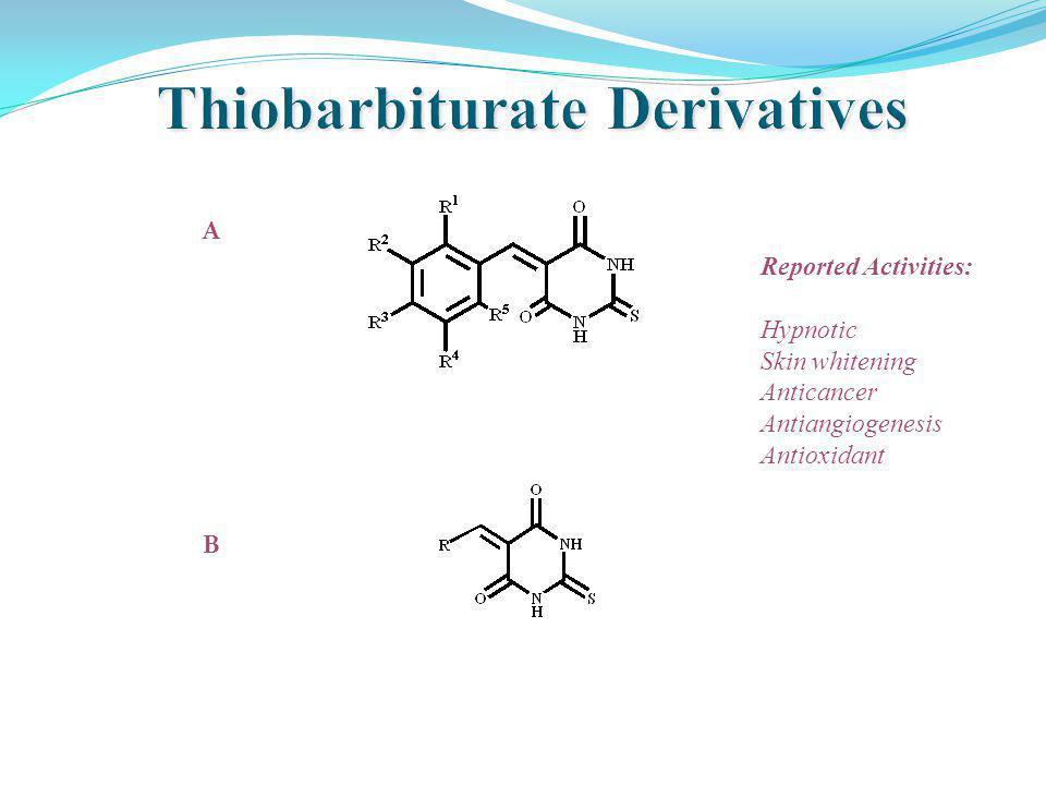A B Reported Activities: Hypnotic Skin whitening Anticancer Antiangiogenesis Antioxidant