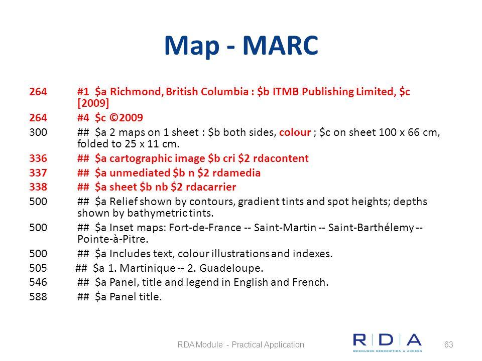 Map - MARC 264#1 $a Richmond, British Columbia : $b ITMB Publishing Limited, $c [2009] 264#4 $c ©2009 300## $a 2 maps on 1 sheet : $b both sides, colo