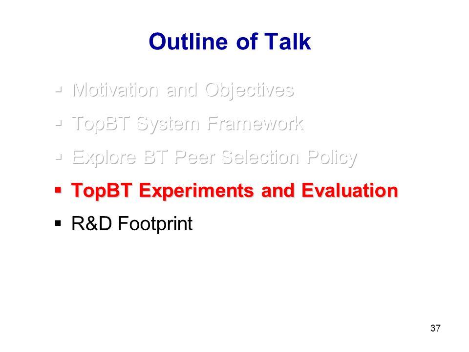 37 Outline of Talk