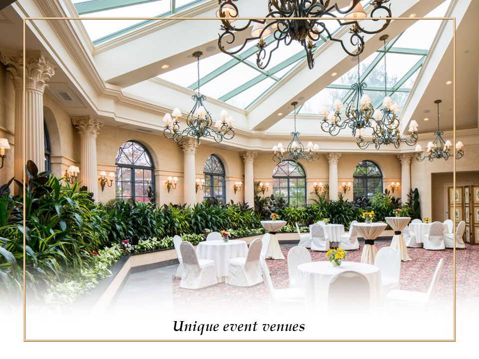 Unique event venues