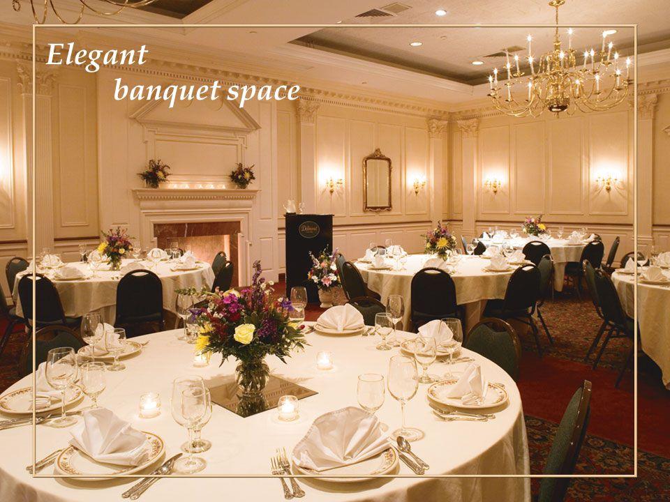 Elegant banquet space