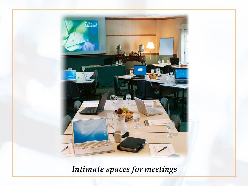 Intimate spaces for meetings