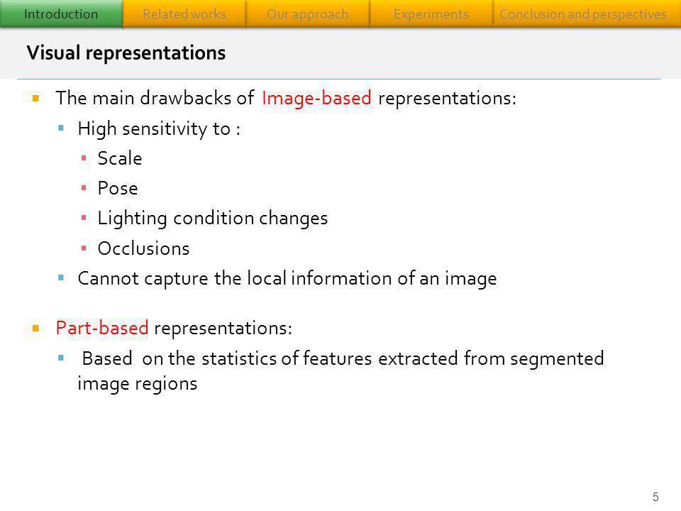 6 Compute local descriptors Feature clustering Feature space VW 1 VW 2 VW 3 VW 4.