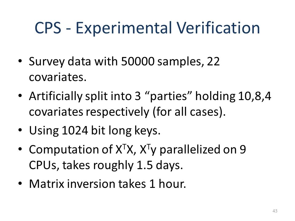 CPS - Experimental Verification Survey data with 50000 samples, 22 covariates.