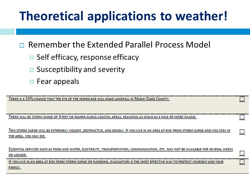 Theoretical applications to weather.