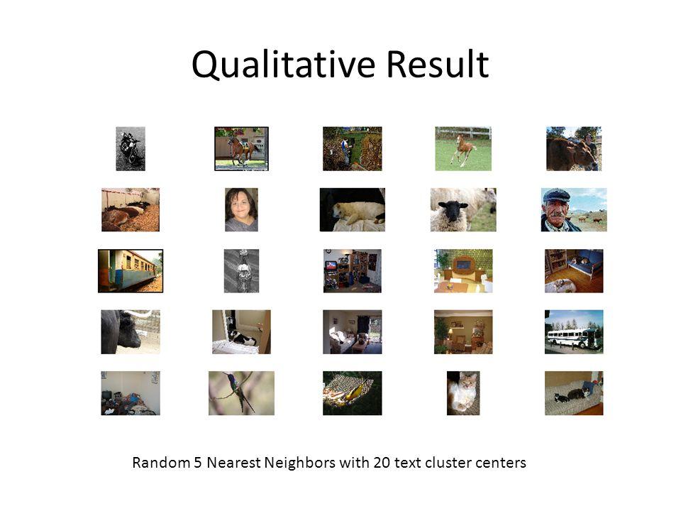 Qualitative Result Random 5 Nearest Neighbors with 20 text cluster centers