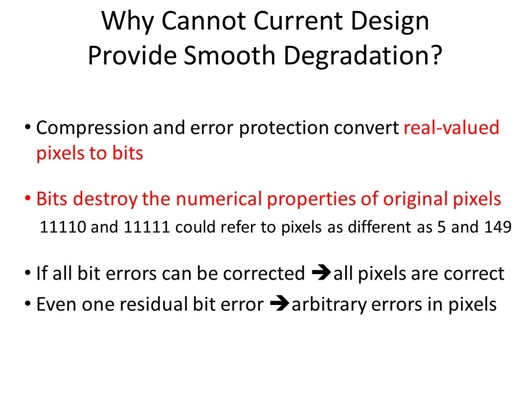 Why Cannot Current Design Provide Smooth Degradation.