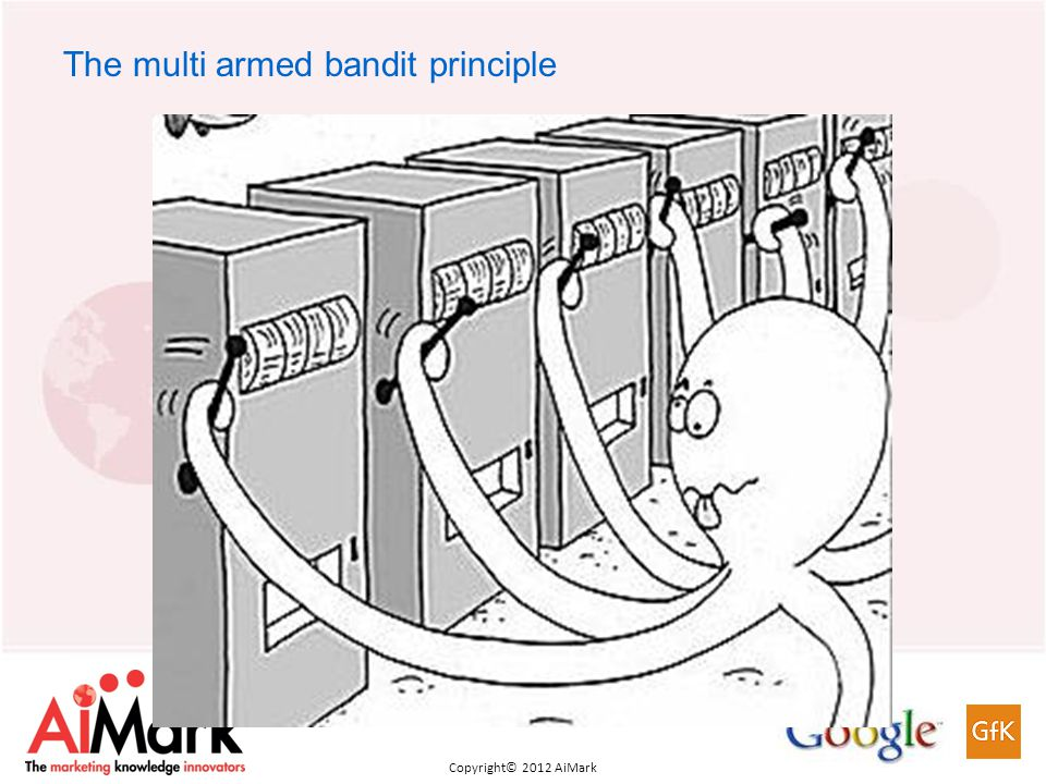 Copyright 2011 AiMark Copyright© 2012 AiMark The multi armed bandit principle