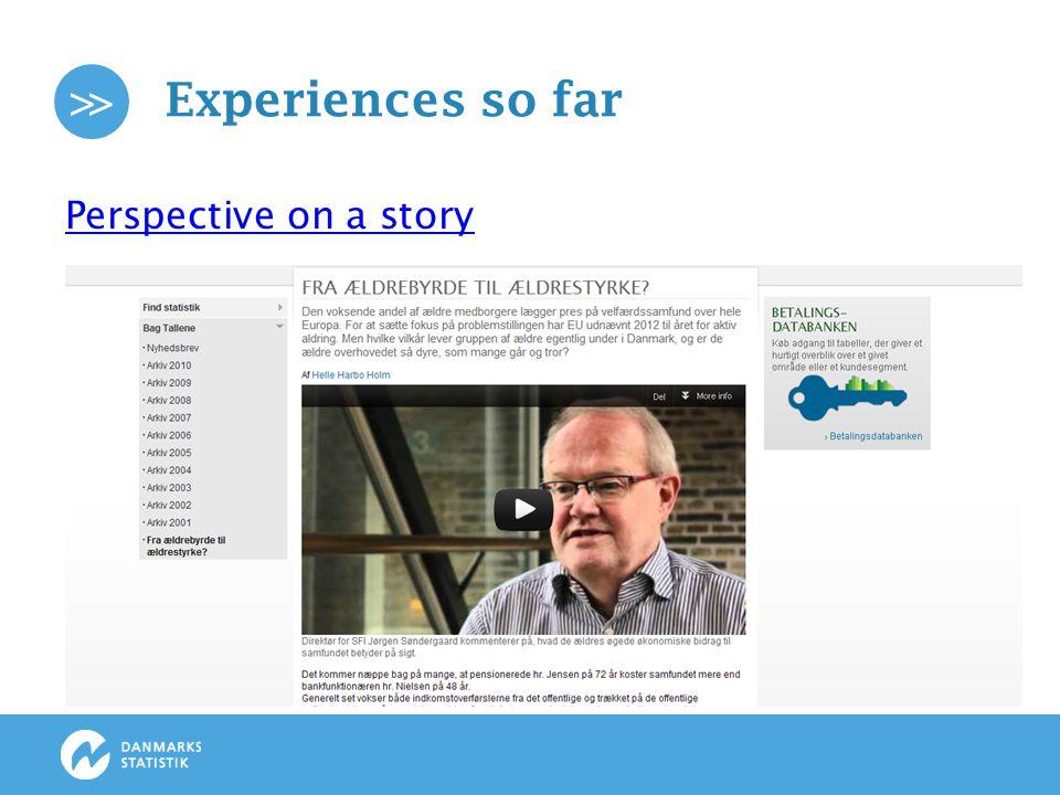 >> Experiences so far Branding purpose: