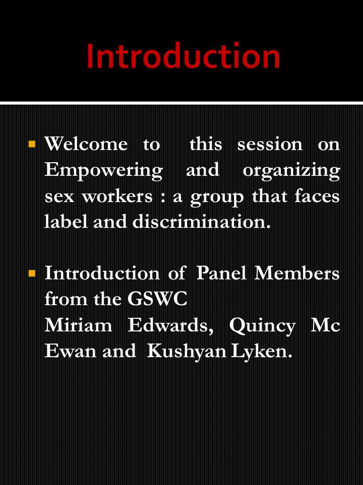 Quincy Mc Ewan – Peer Educator, member of the Caribbean Sex Work Coalition (CSWC)