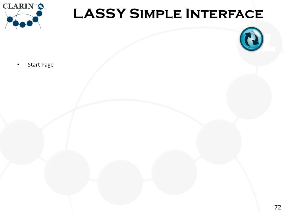 Start Page LASSY Simple Interface 72
