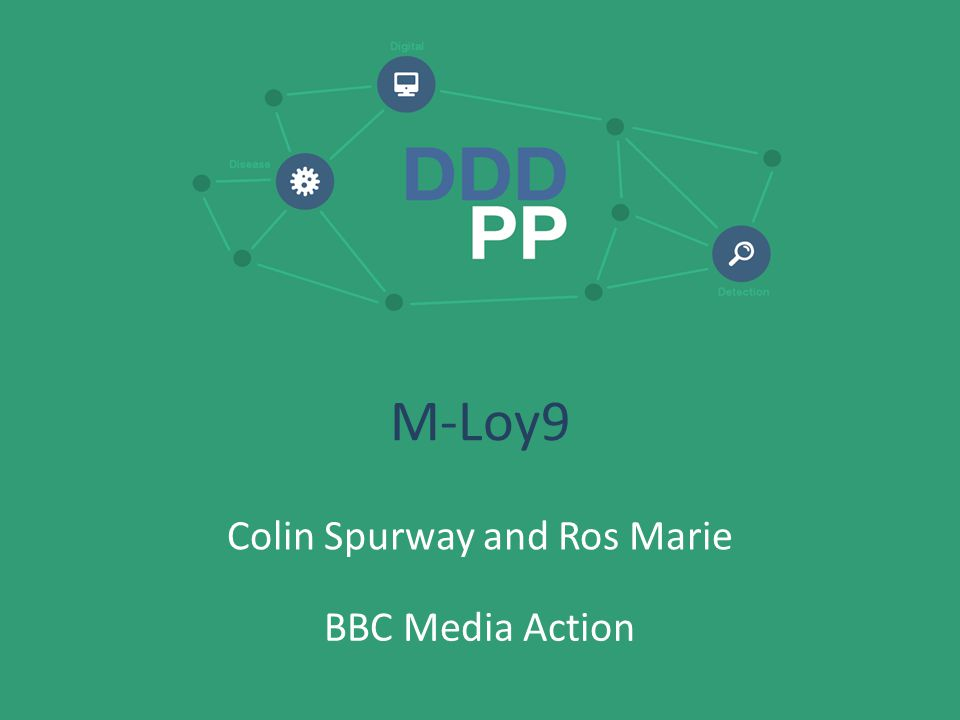 M-Loy9 Colin Spurway and Ros Marie BBC Media Action