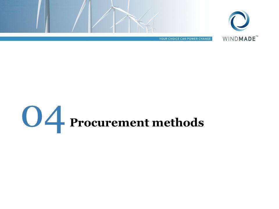04 Procurement methods