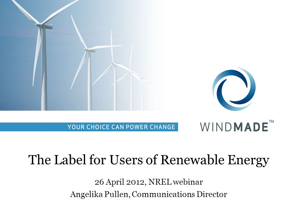 The 5 steps to become WindMade Check eligibility Become a member of WindMade Procure wind power & calculate percentage Get 3 rd party verification for the procured electricity Receive approval & start using label