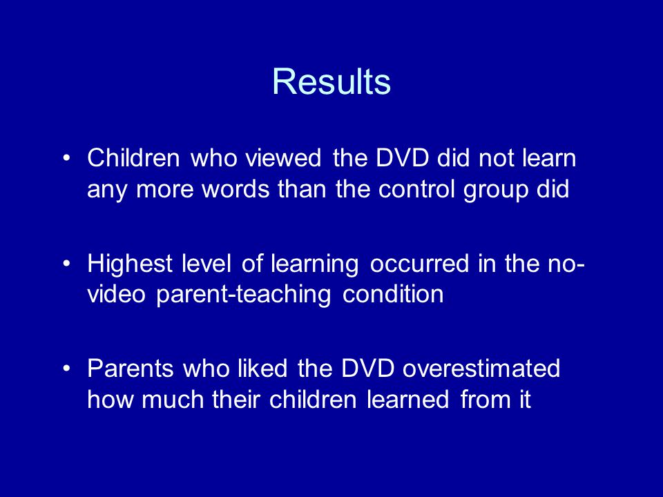 Preschool Substantial evidence that children age 3 to 5 learn and get long- term benefits from watching Sesame Street (e.g., Anderson, Huston, Wright, et al., 2001)