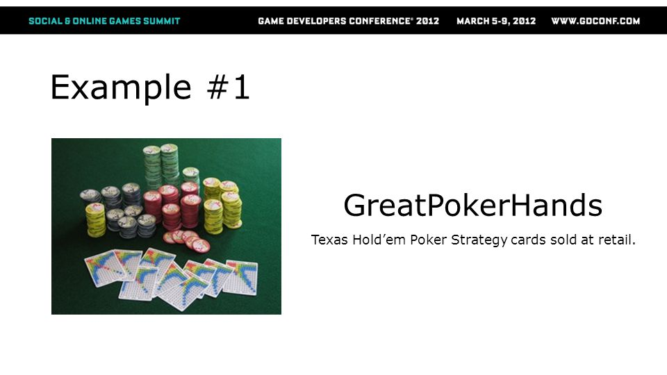 Example #1 GreatPokerHands Texas Holdem Poker Strategy cards sold at retail.
