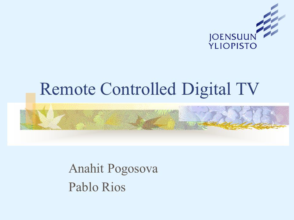 Project Overview Digital technology provides more efficient way to deliver television than with analogue transmissions enables the same services to be delivered in less space with greater clarity Digital TV provides the support to Interactive Television, like applications and programming that allow the viewer to control content delivered with and through the television