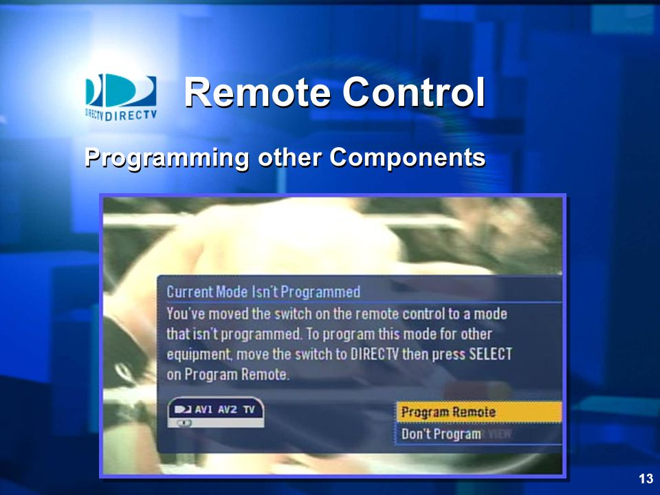 13 Remote Control Programming other Components