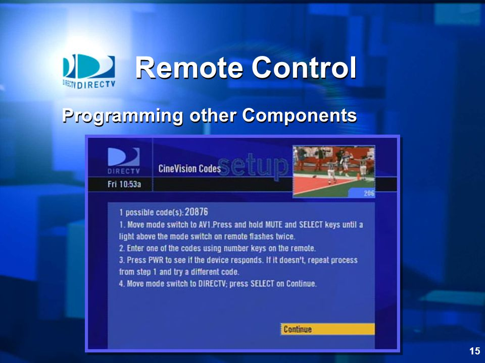 15 Remote Control Programming other Components