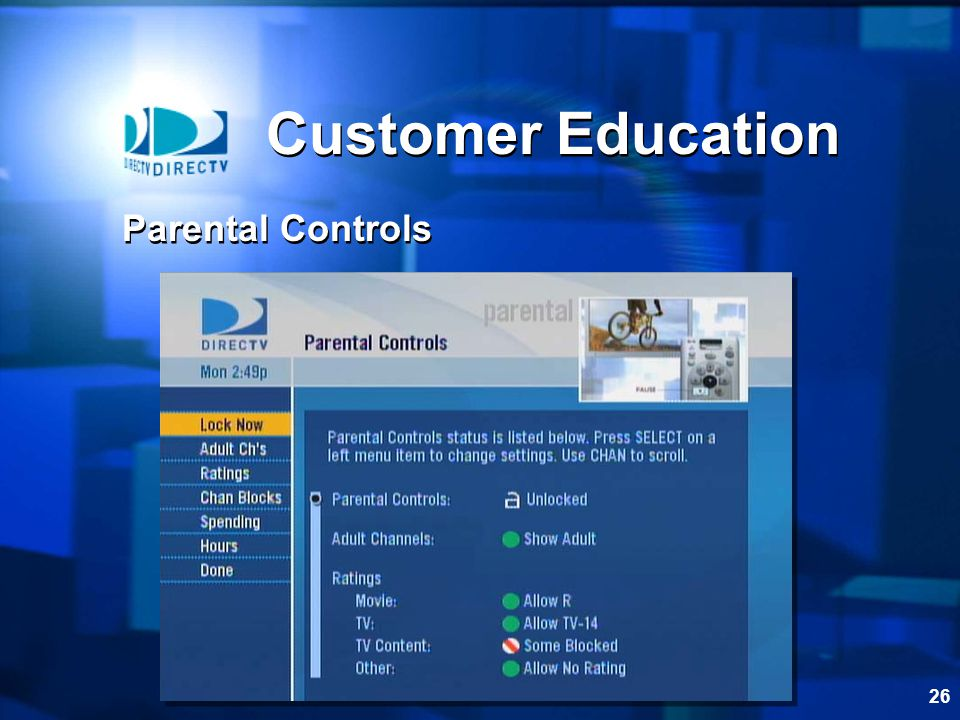 26 Customer Education Parental Controls