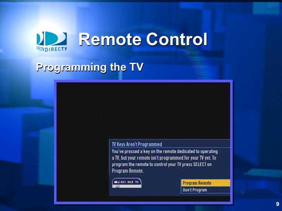 9 Remote Control Programming the TV